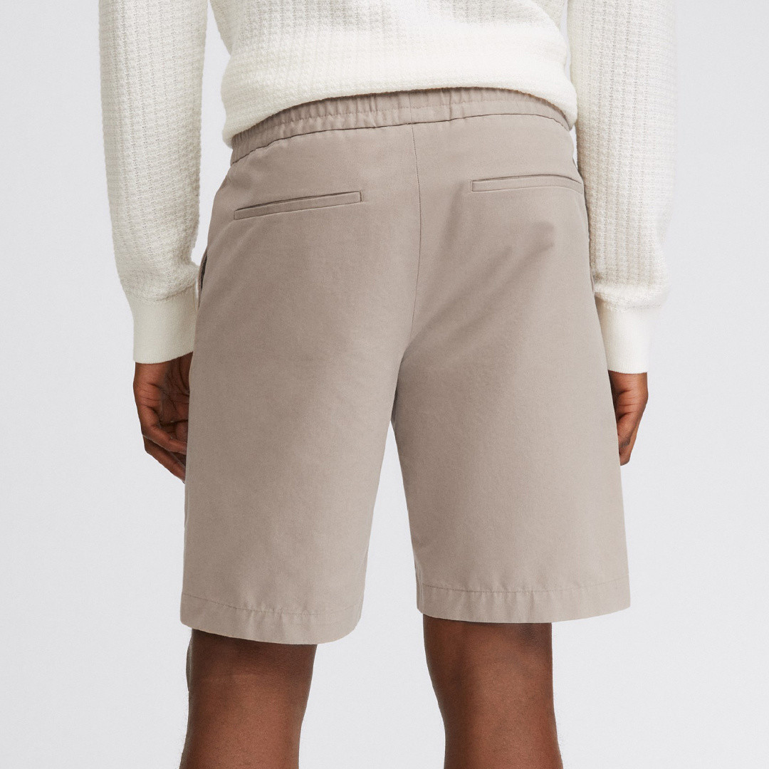 filippa k terry cotton shorts - desert taupe