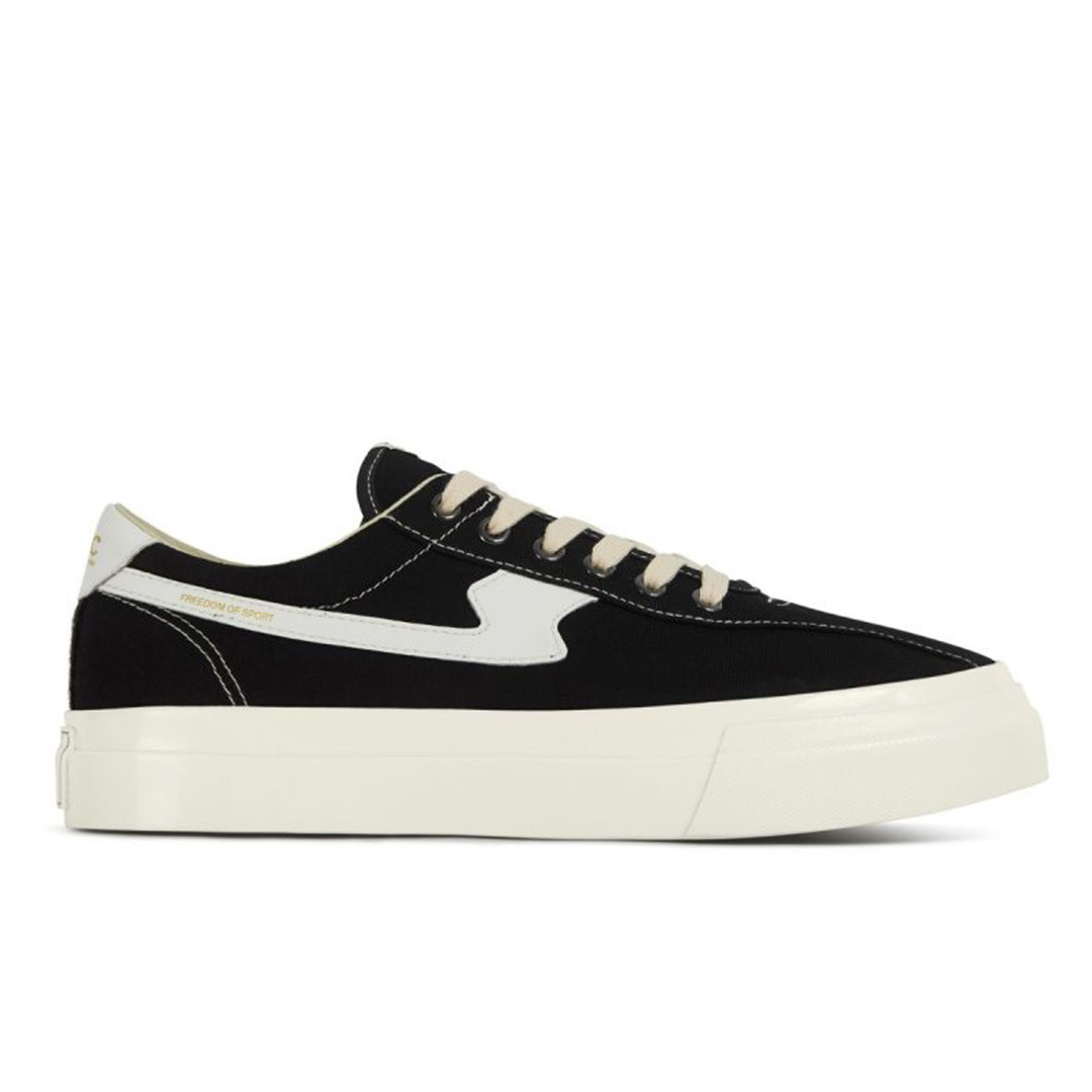 stepney workers club dellow s-strike canvas shoe - black white