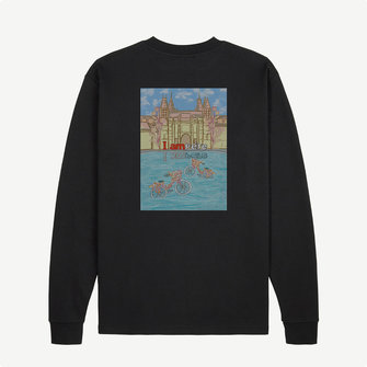 ampère henri i am long sleeve - black
