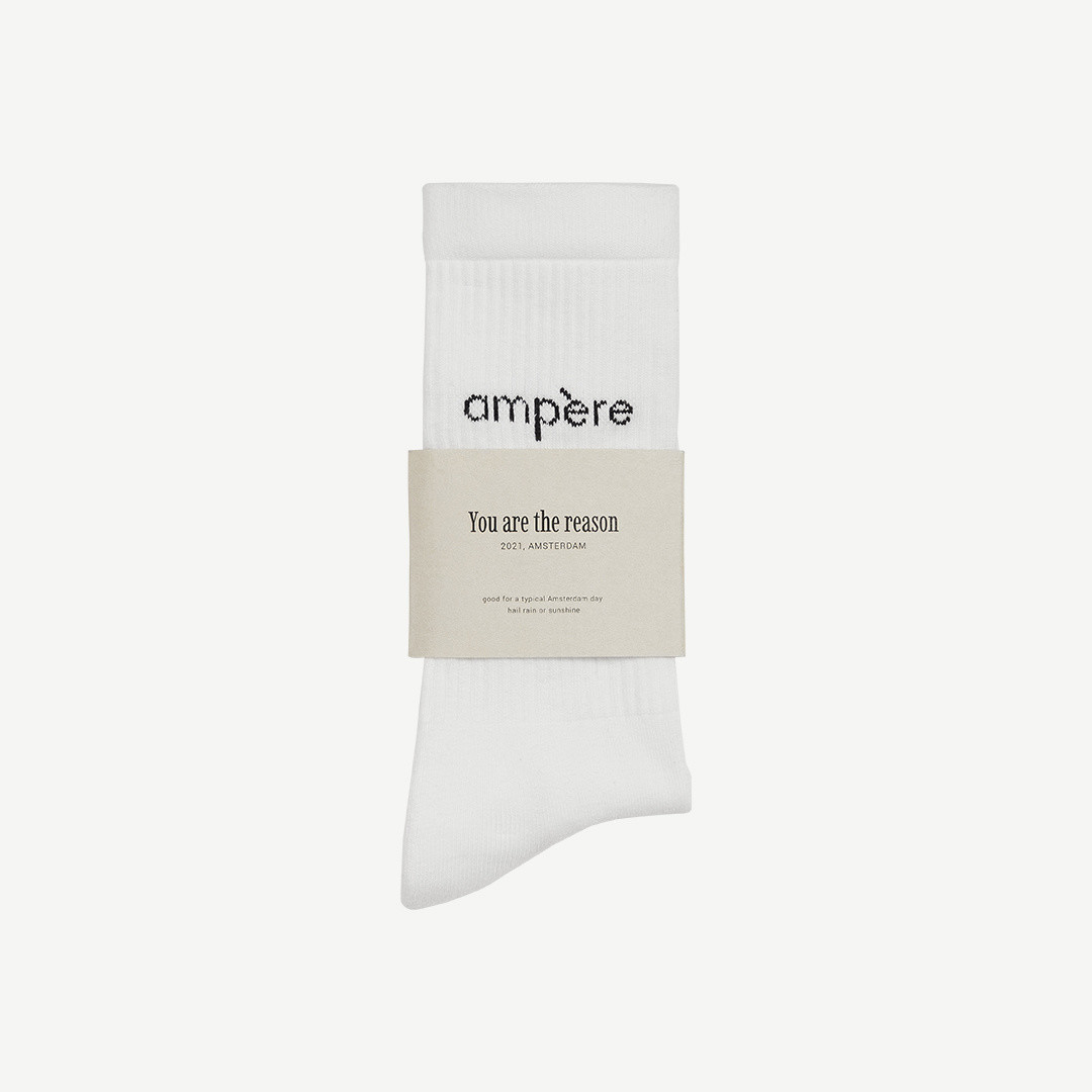 ampère ampère socks - white