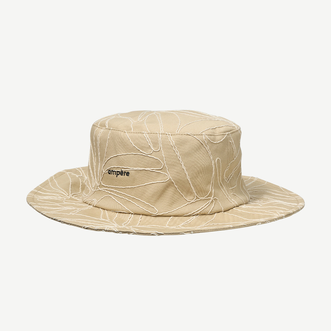 ampère lou embroidered bucket hat - sand