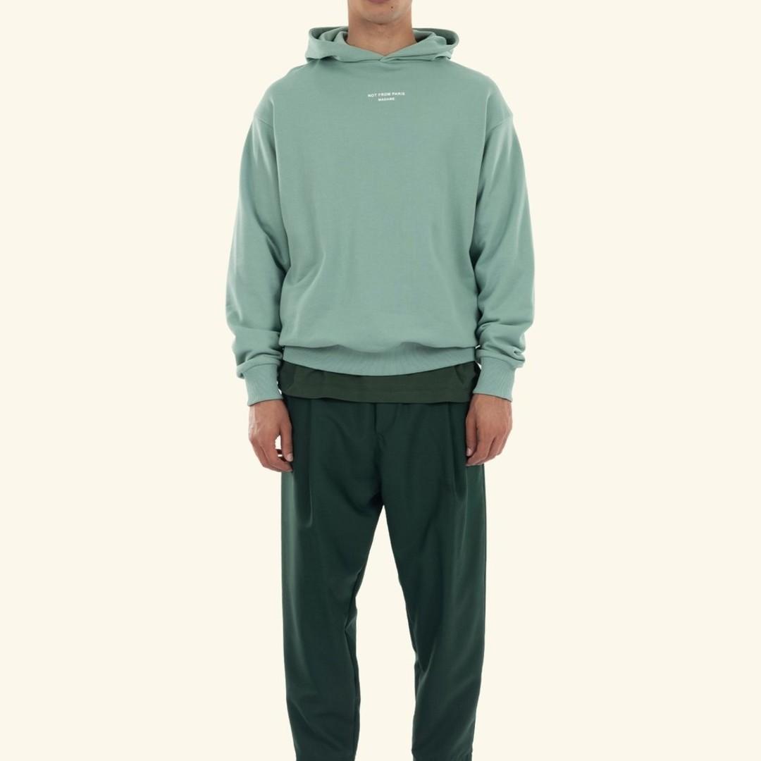 drôle de monsieur le hoodie classique - mint