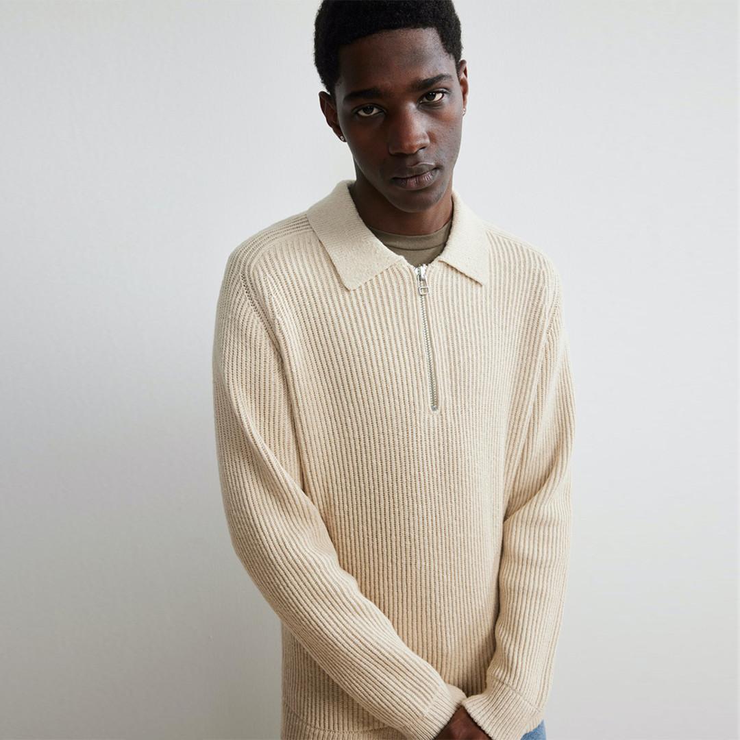nn07 abbot 6454 zip knit - ecru