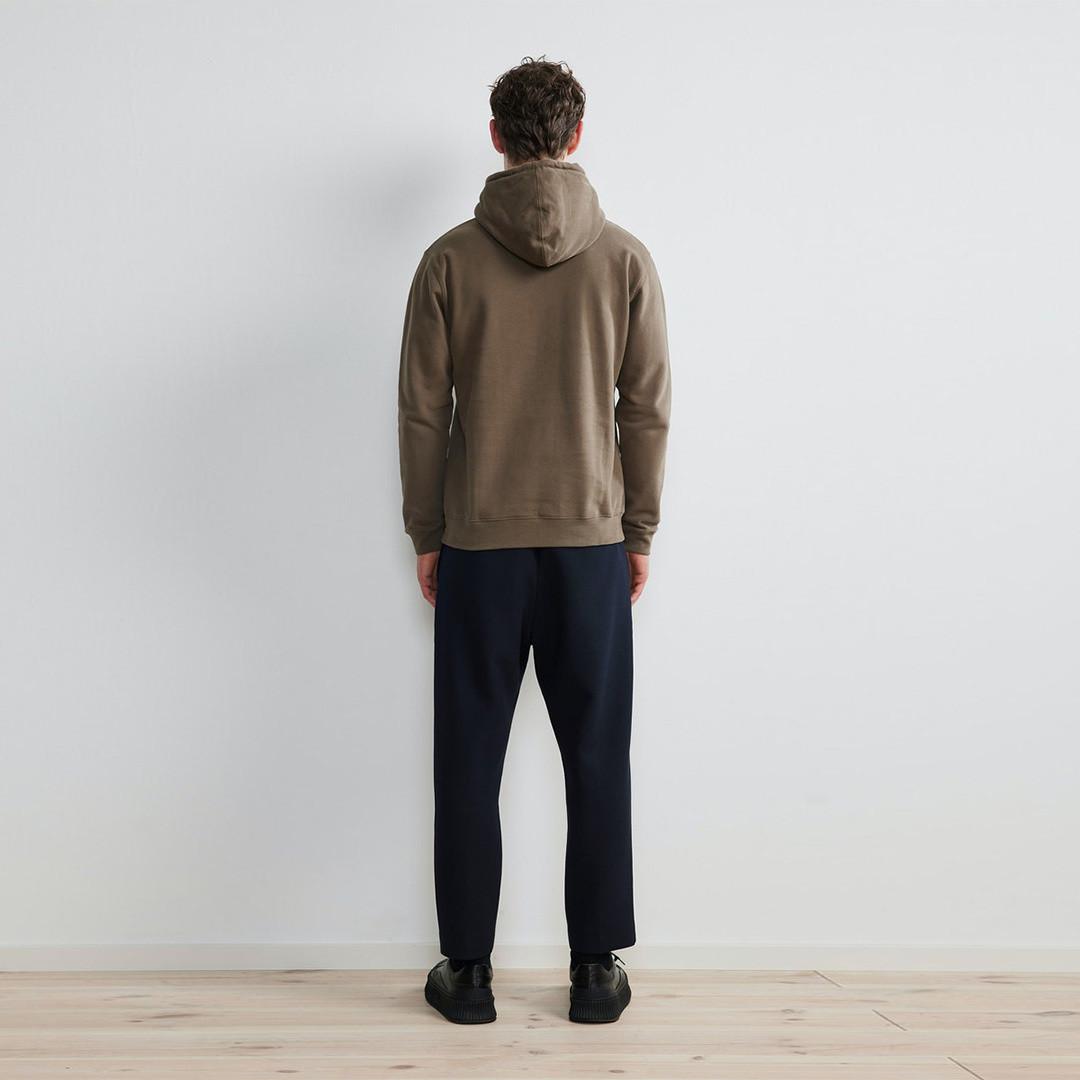 nn07 barrow print 3385 hoodie - clay