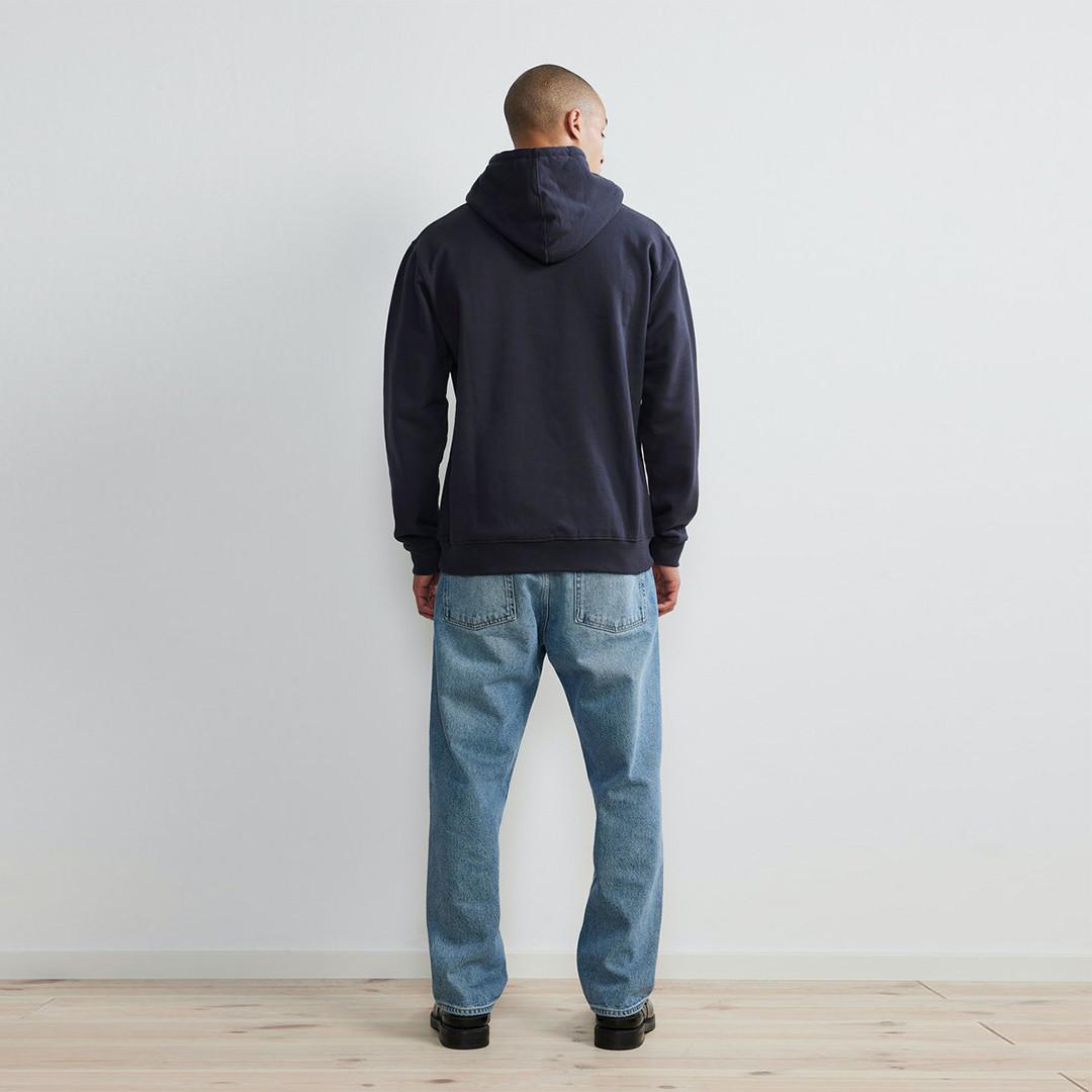 nn07 barrow print 3385 hoodie - navy blue