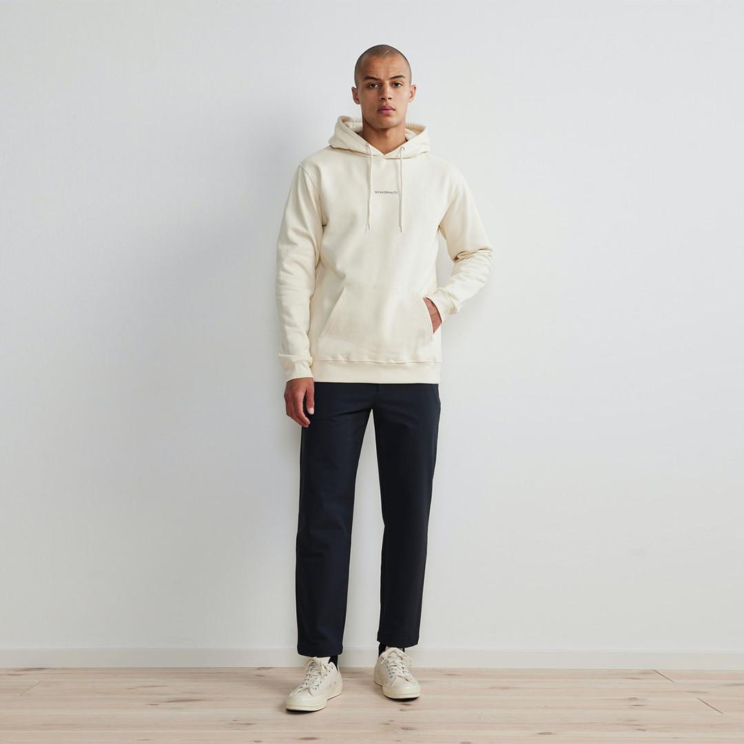 nn07 barrow print 3385 hoodie - vanilla