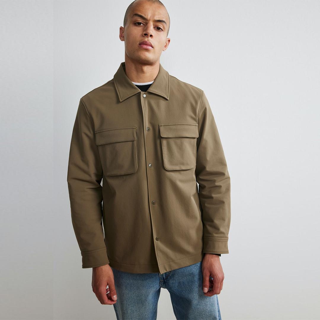 nn07 columbo 1315 overshirt - clay
