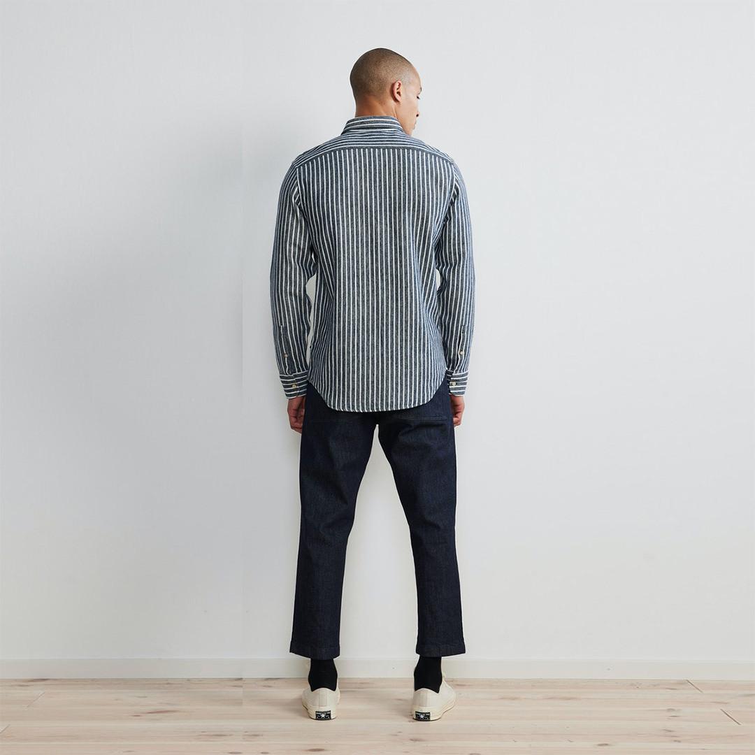nn07 errico 5166 shirt - navy stripe