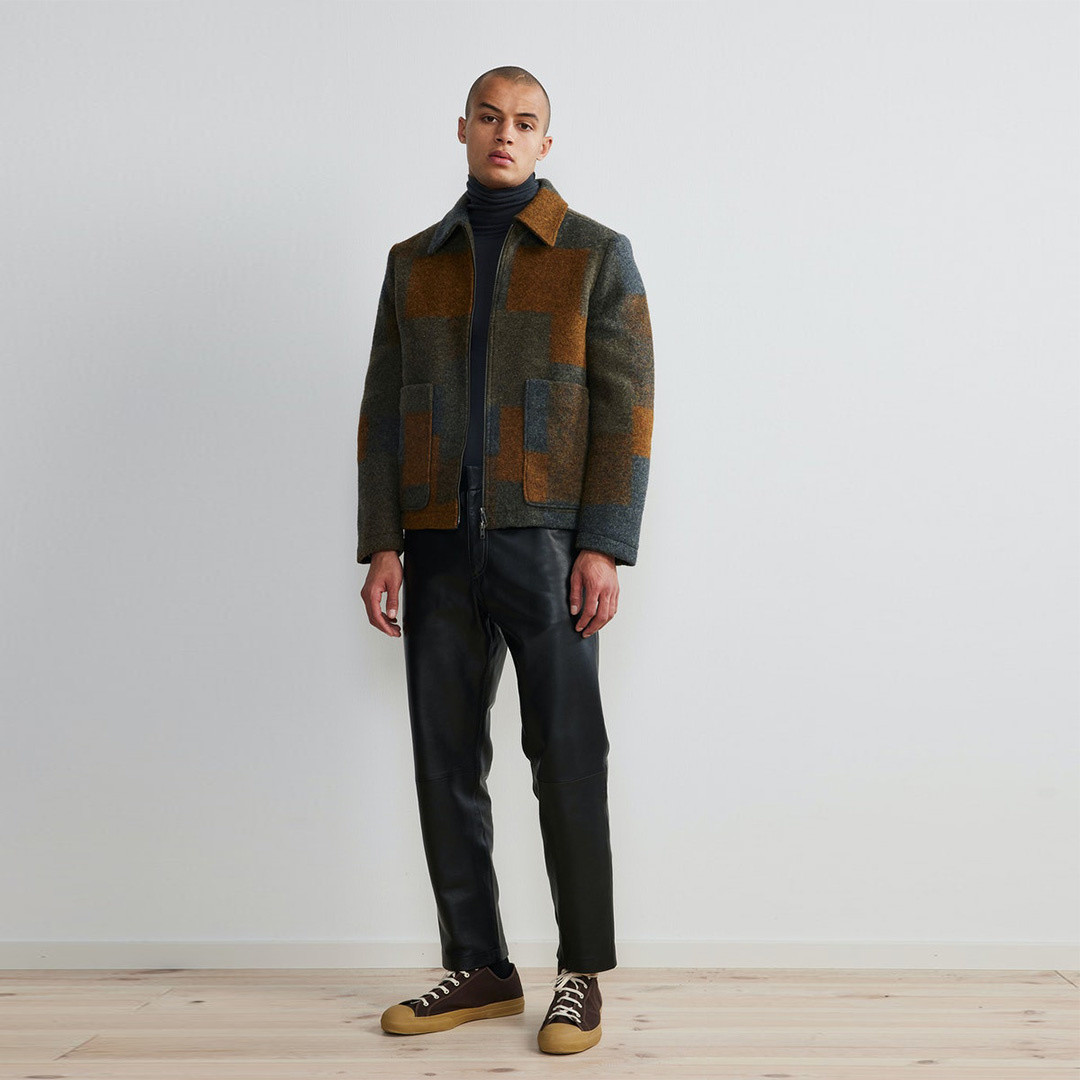 nn07 gael 8267 jacket - brown check