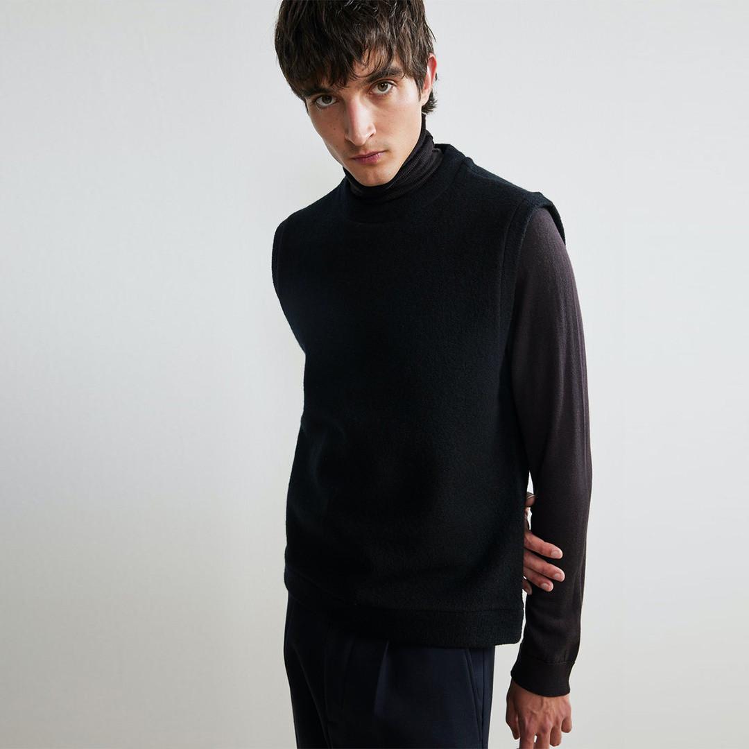 nn07 vest 6398 sleeveless - black