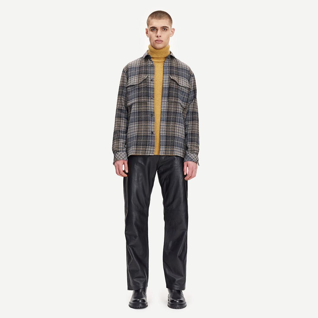 samsoe samsoe eddie leather pants 12896 - black