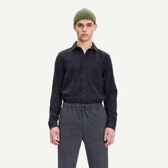 samsoe samsoe liam nf 7383 shirt - black
