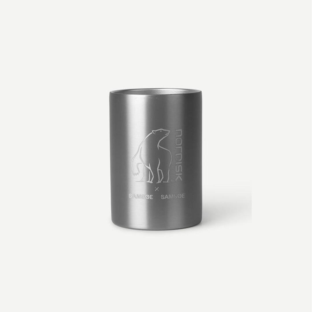 samsoe samsoe nordisk double wall mug - aluminium