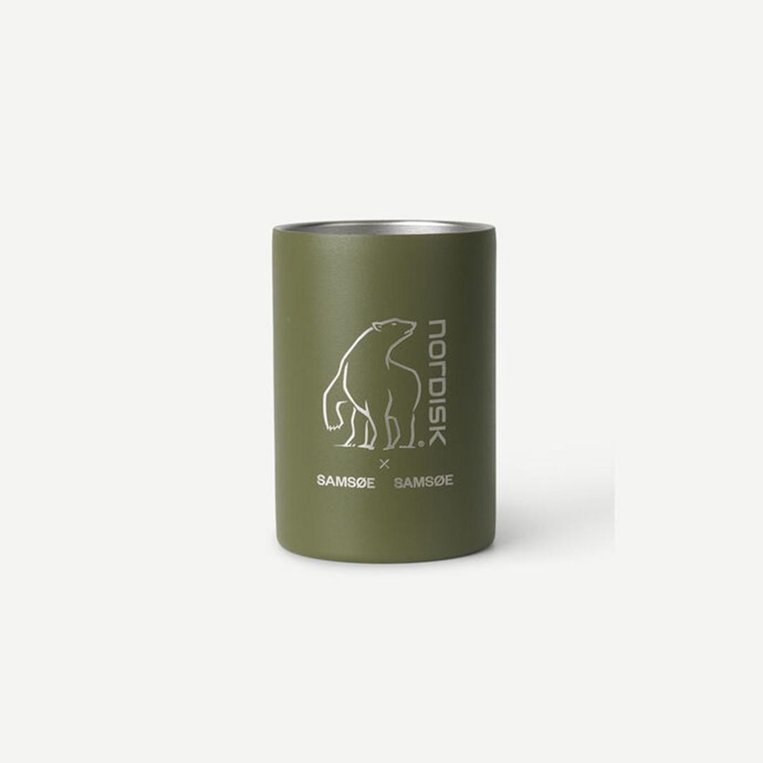 samsoe samsoe nordisk double wall mug - covert green