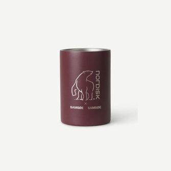 samsoe samsoe nordisk double wall mug - cherry mahogany