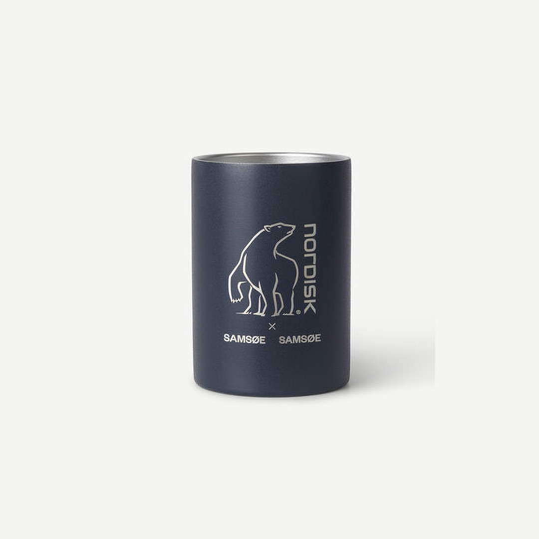 samsoe samsoe nordisk double wall mug - india ink