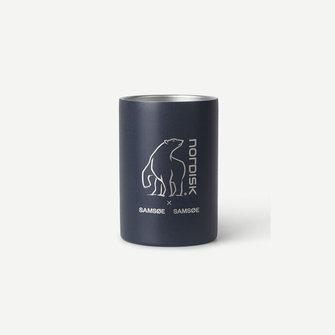 samsoe samsoe nordisk double wall mug - indian ink