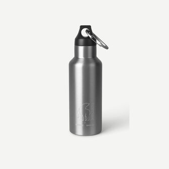 samsoe samsoe nordisk drinking bottle 500ml - aluminium