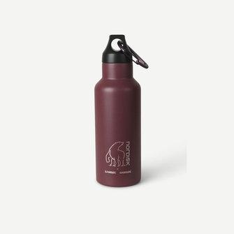 samsoe samsoe nordisk drinking bottle 500ml - cherry mahogany