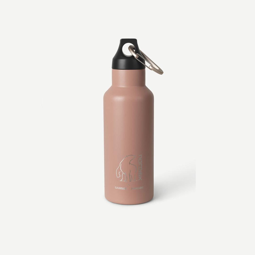 samsoe samsoe nordisk drinking bottle 500ml - mahogany rose