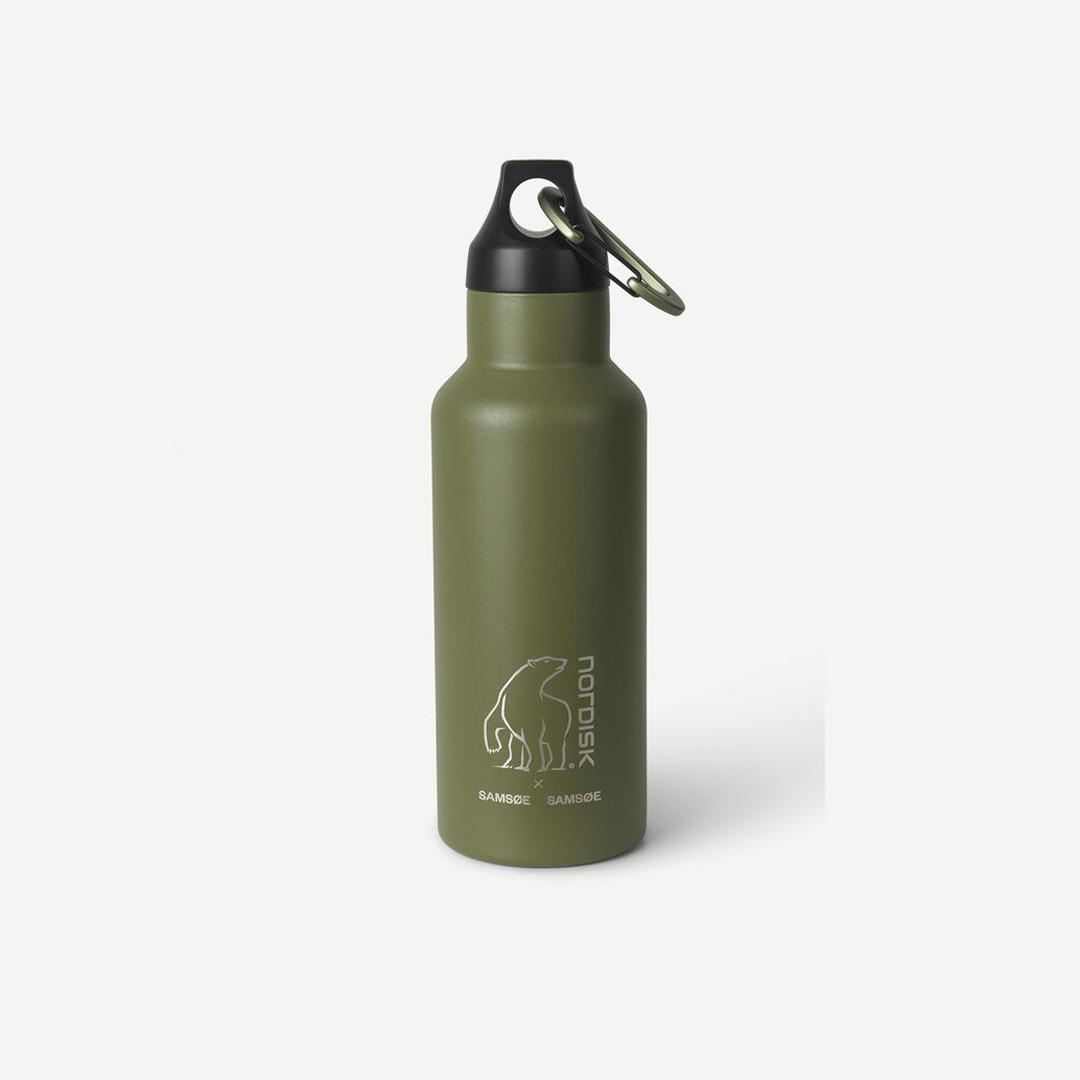 samsoe samsoe nordisk drinking bottle 500ml - covert green