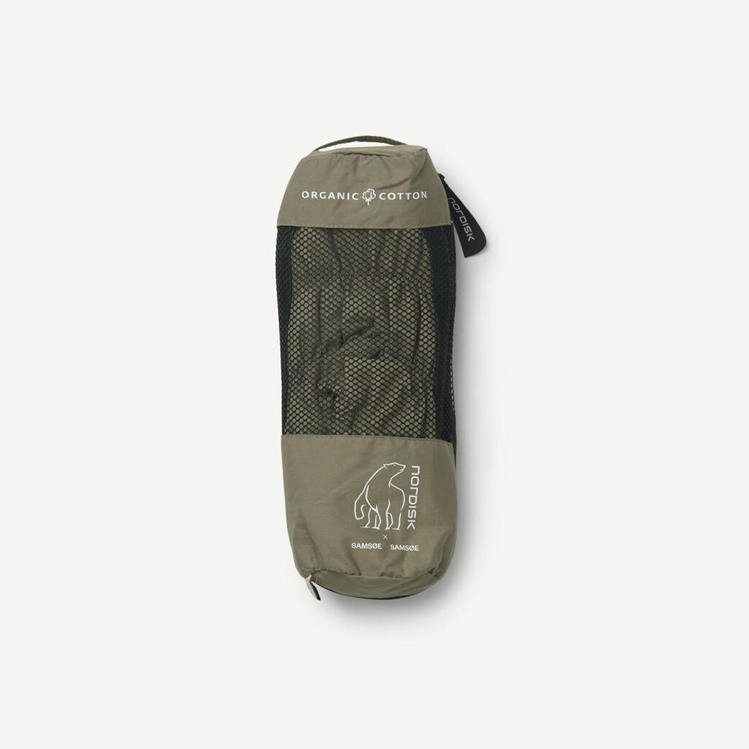 samsoe samsoe nordisk hermod down slippers - covert green
