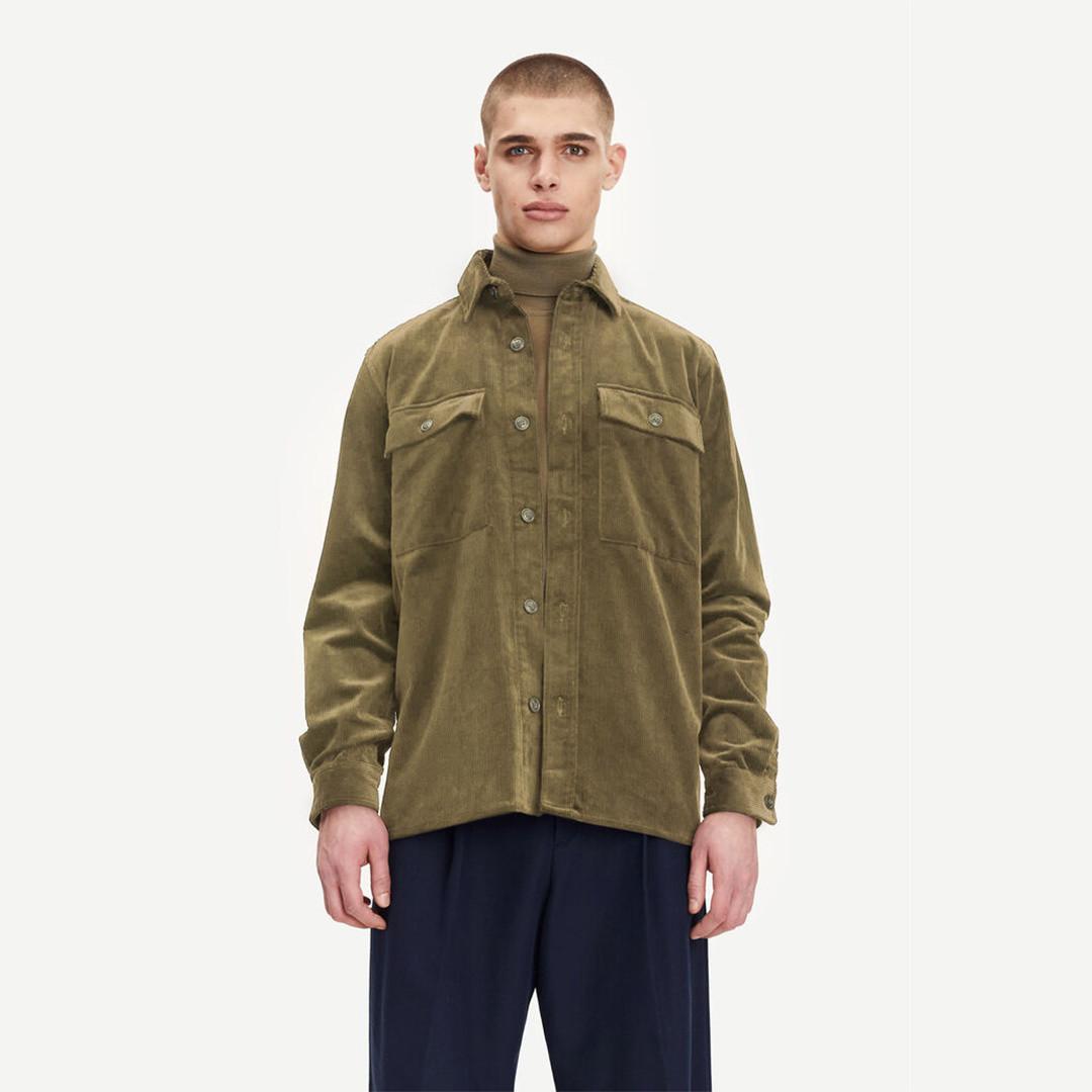samsoe samsoe waltones 11046 overshirt - covert green