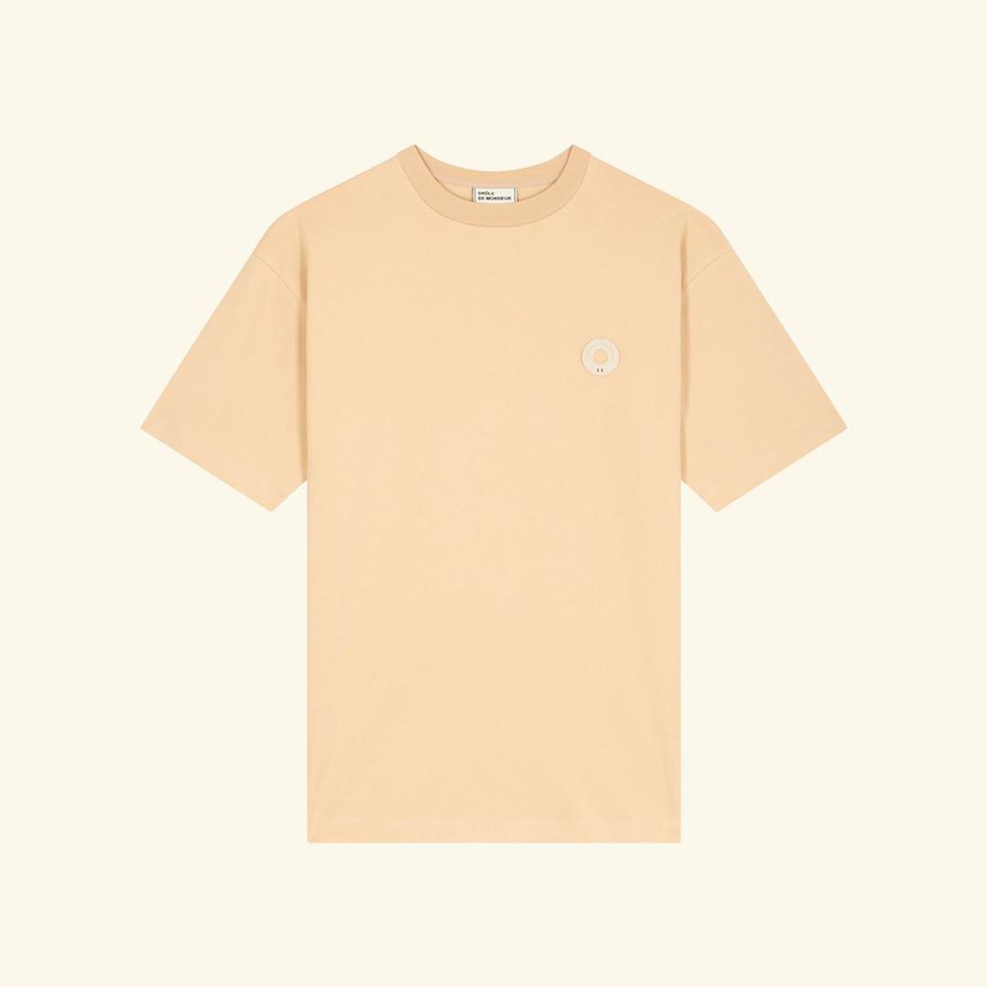 drôle de monsieur le tshirt slogan - beige