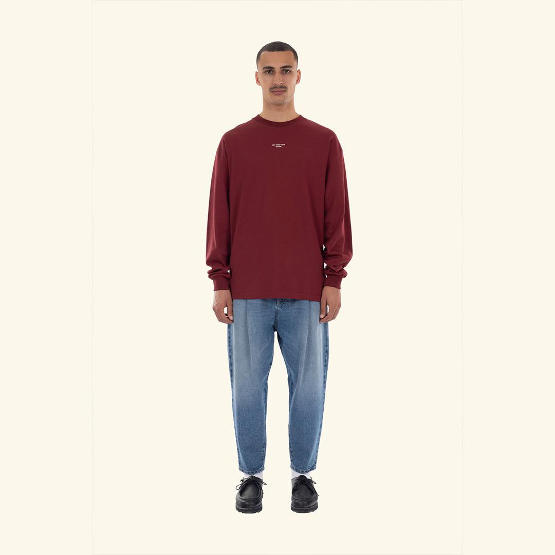 drôle de monsieur le tshirt manches longue - burgundy