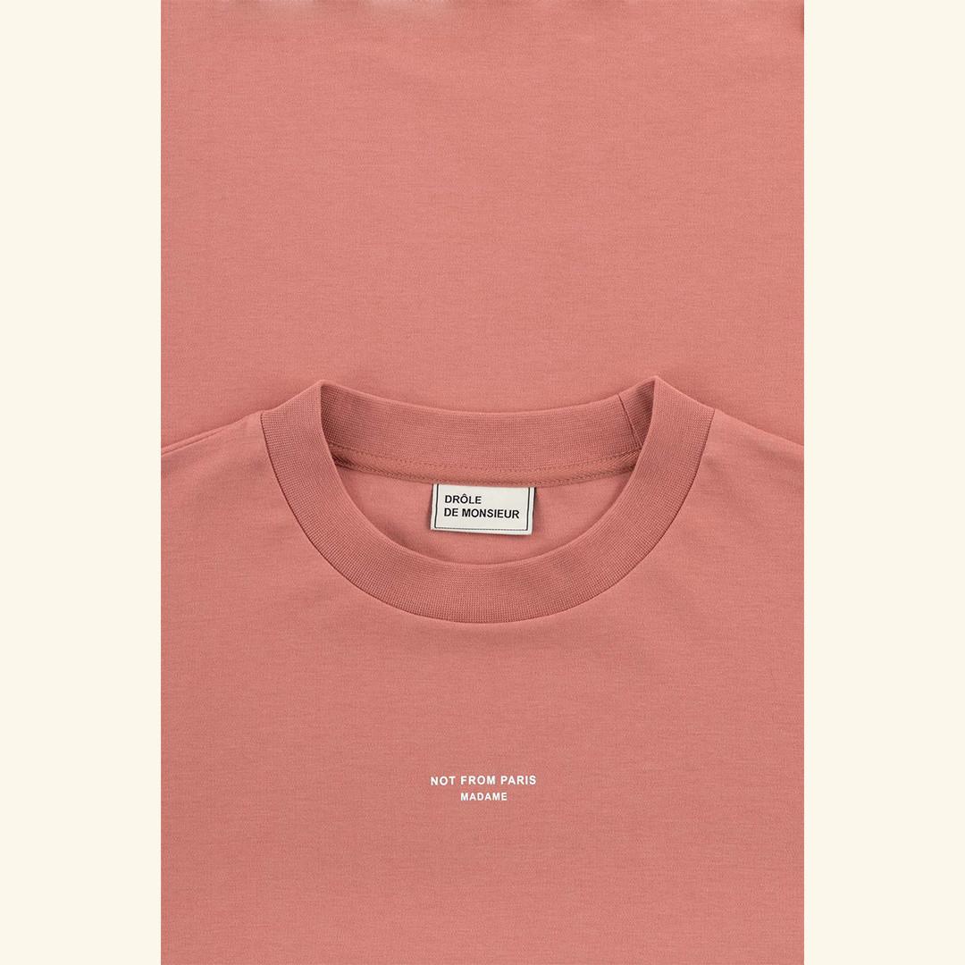 drôle de monsieur le tshirt classic nfpm - scarlet