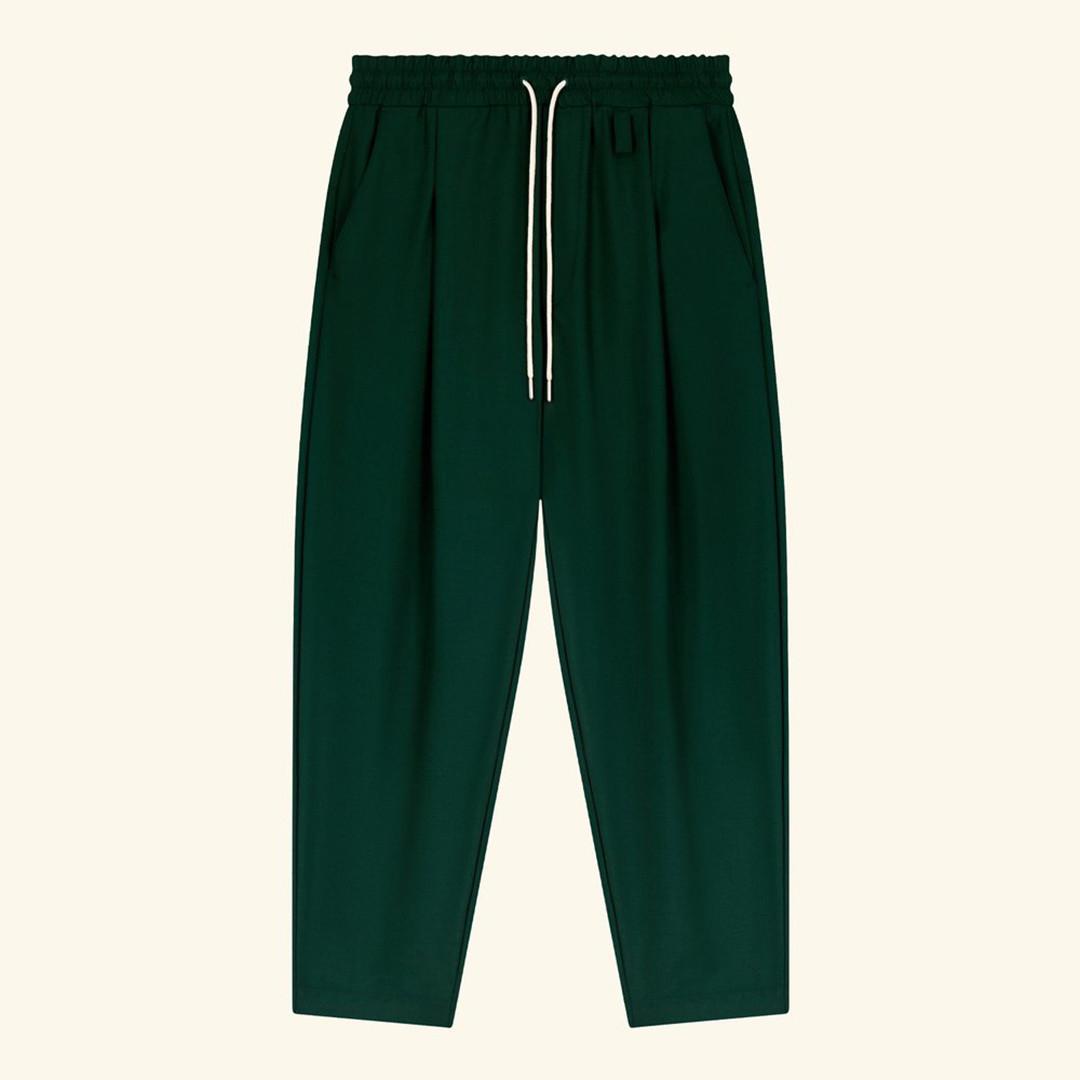 drôle de monsieur le pantalon signature - green