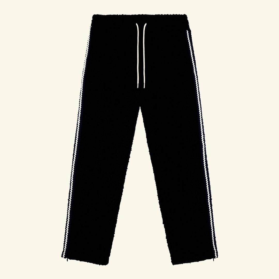drôle de monsieur le pantalon galon - black