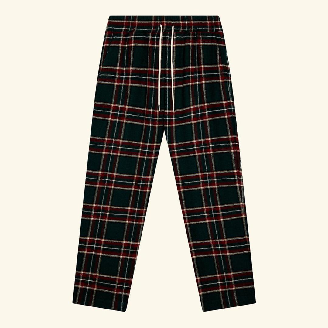 drôle de monsieur le pantalon carreau - green