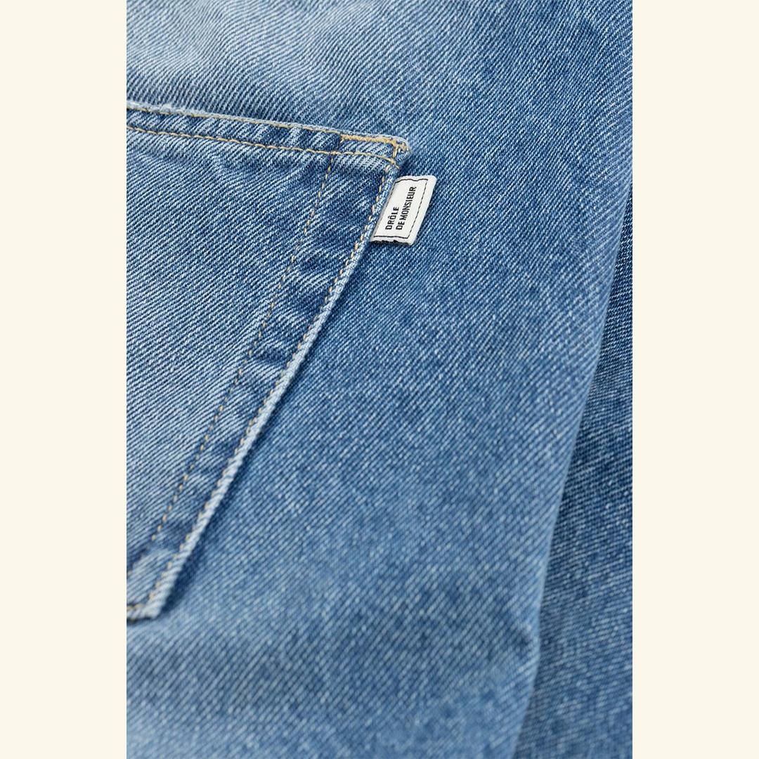 drôle de monsieur le jean signature - blue