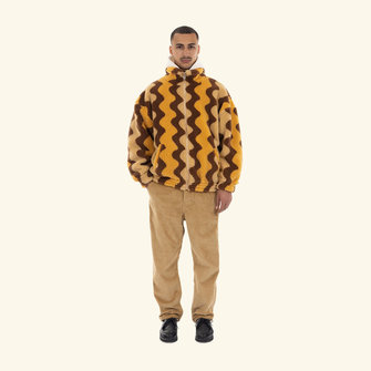 drôle de monsieur le manteau zigzag - brown