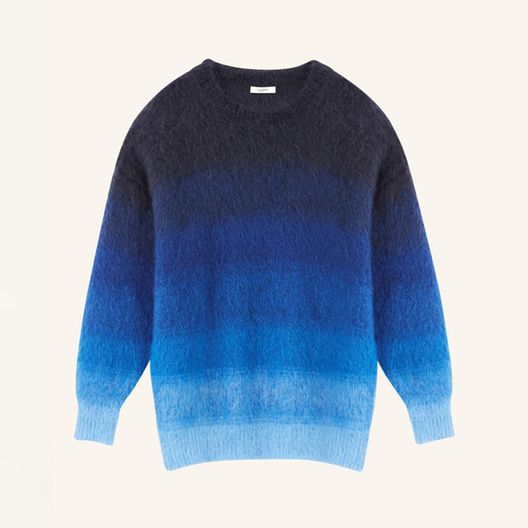 isabel marant drussellh gradient knit - navy