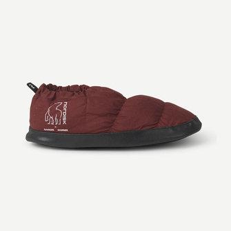 samsoe samsoe nordisk hermod down slippers - cherry mahogany