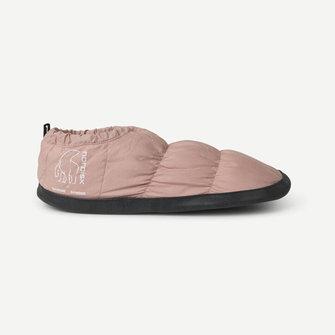 samsoe samsoe nordisk hermod down slippers - mahogany rose