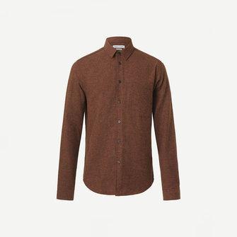 samsoe samsoe liam nf 7383 shirt - cherry mahogany