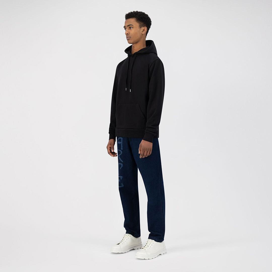 arte horta back dahlia hoodie - black