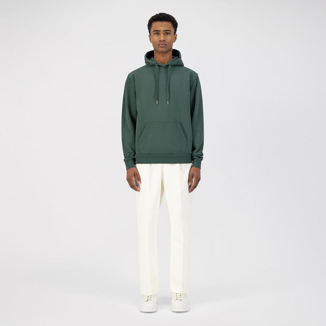 arte horta back dahlia hoodie - green