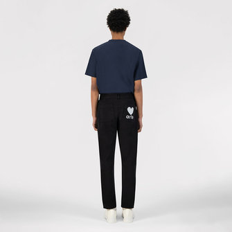 arte polke heart pants - black