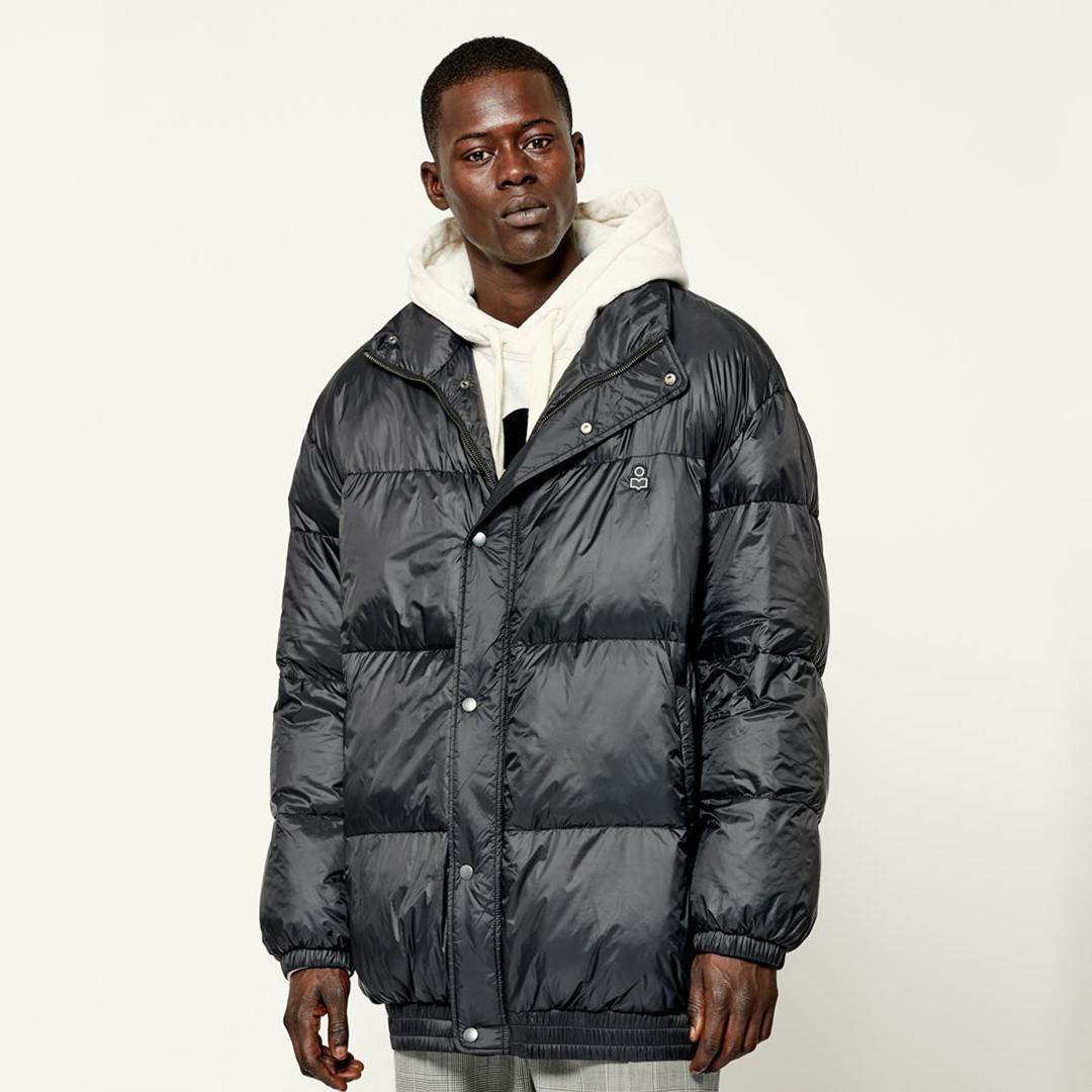 isabel marant dilyam puffer jacket - black