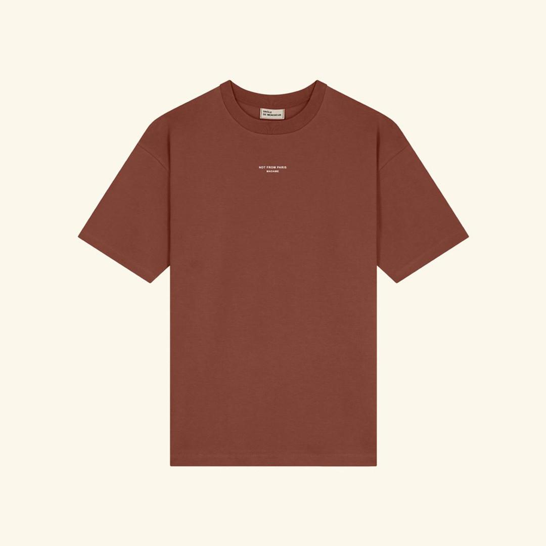 drôle de monsieur le tshirt classic nfpm - brown