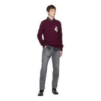 isabel marant evans knit - burgundy light grey