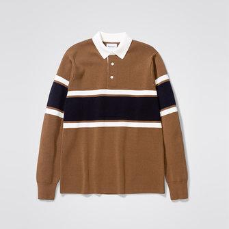 ruben knitted polo - duffle