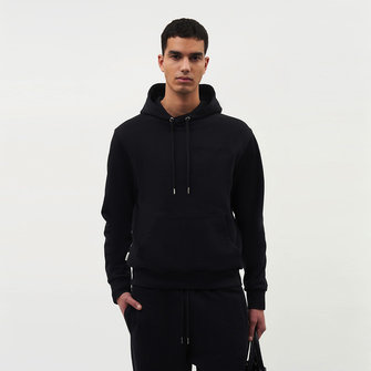 filling pieces core logo hoodie - black