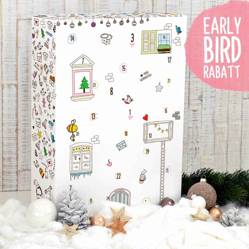Early Bird Rabatt: Adventskalender