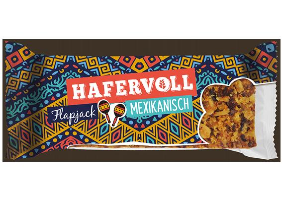 Neue Sorte: der herzhafte Mexikanisch Flapjack von HAFERVOLL.