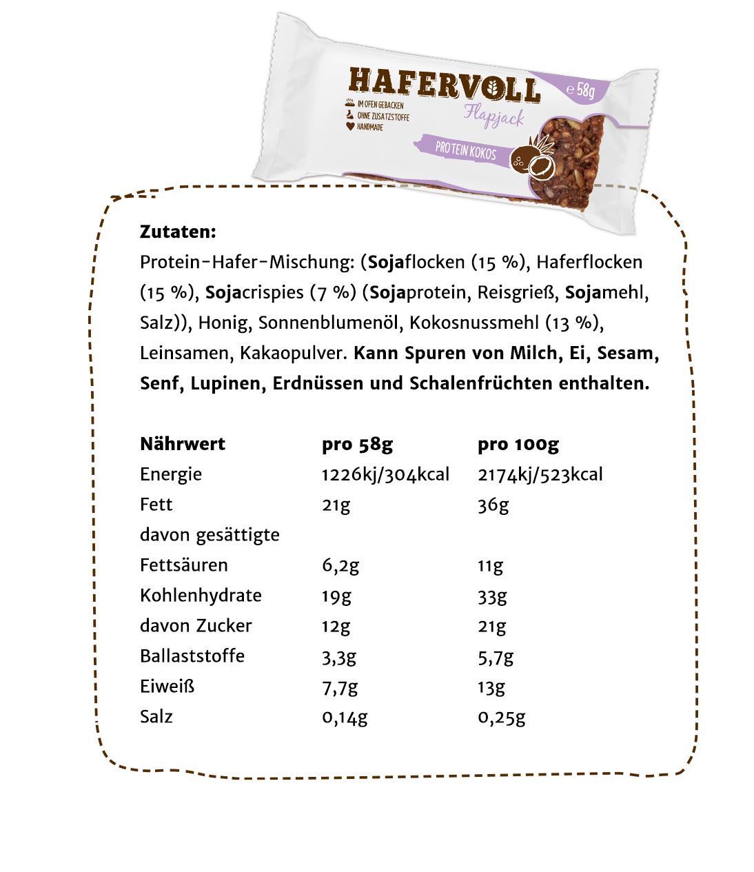 Jetzt kaufen: der Protein Kokos Flapjack mit Sojacrisps.